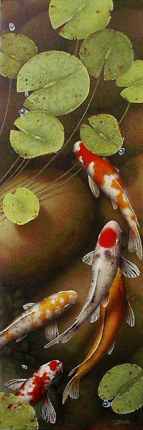 Koi Painting on Canvas