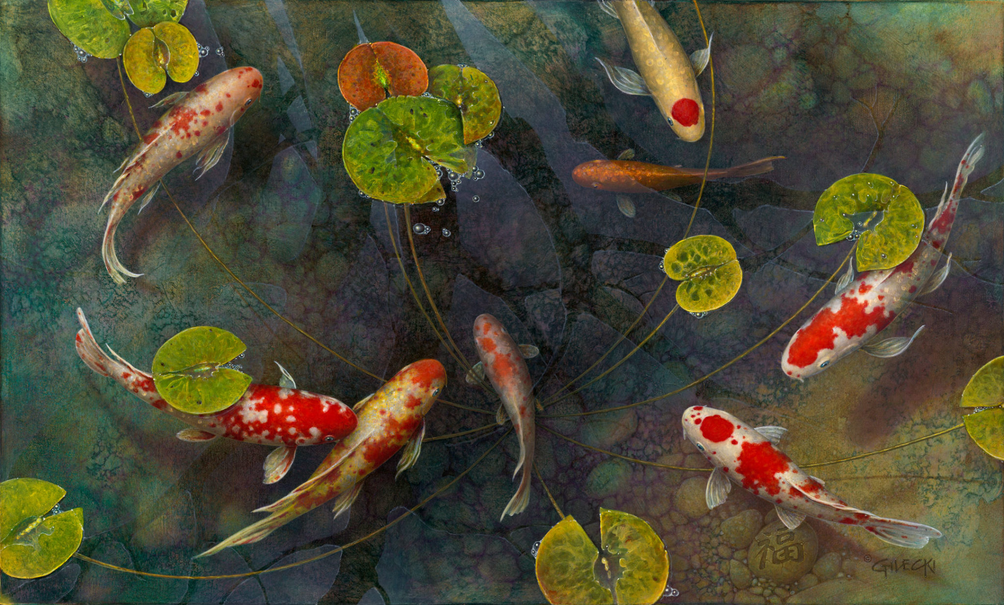 8 lucky koi fish for feng shui