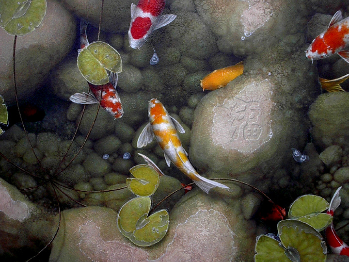 image of koi in pond