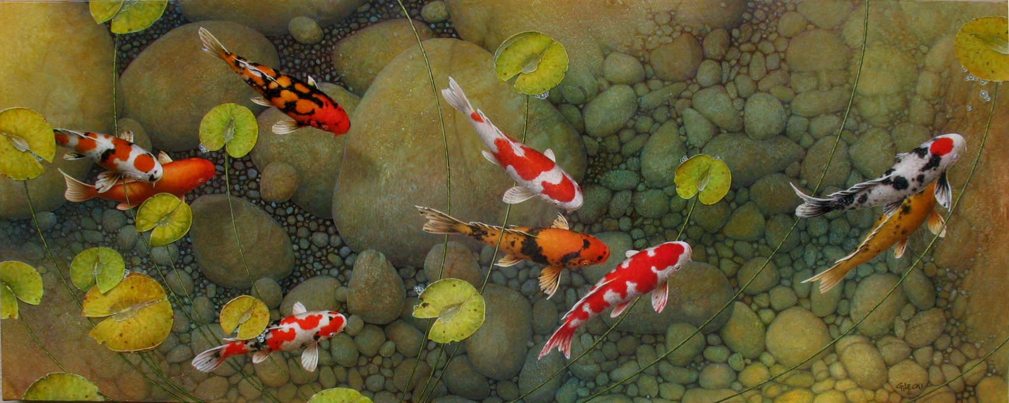 Image of a koi fish painting